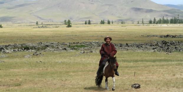 cavalier en Mongolie