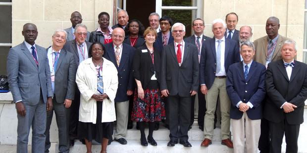 Les représentants du Comité de liaison des institutions ordinales vétérinaires francophones