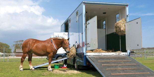 Un camion pour le transport de chevaux