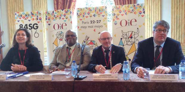 La direction de l'OIE en conférence de presse