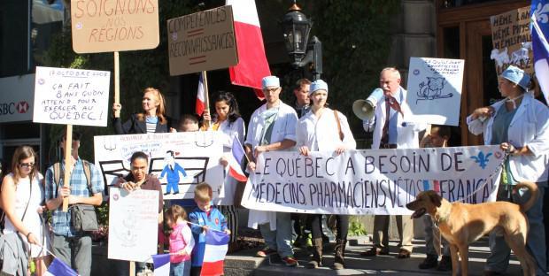 Manifestation vétérinaire au Québec