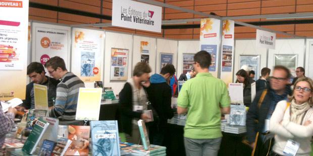 Le stand de la librairie des Editions du Point Vétérinaire au congrès AFVAC à Lyon