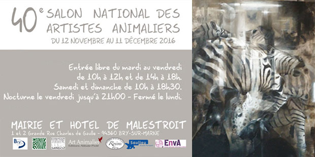 Affiche du 40ème salon national des arts animaliers