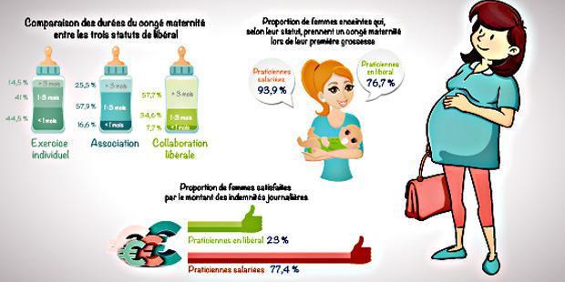 Infographie sur la grossesse des vétérinaires