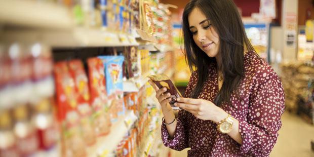 Etiquetage nutritionnel dans un supermarché