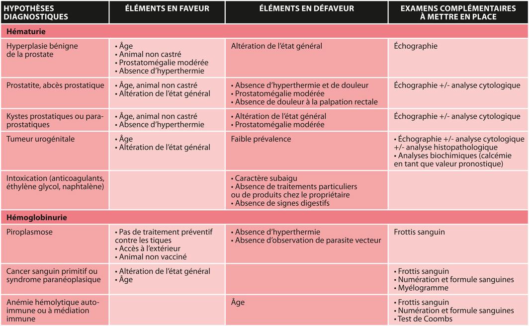 TABLEAU 1Hypothèses diagnostiques retenues