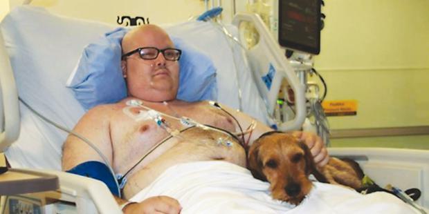 Zachary Noble, initiateur du projet ZPFH, lors de son séjour à l'hôpital Juravinski.