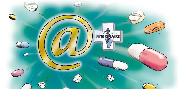 Médicaments vétérinaires projetés d'internet