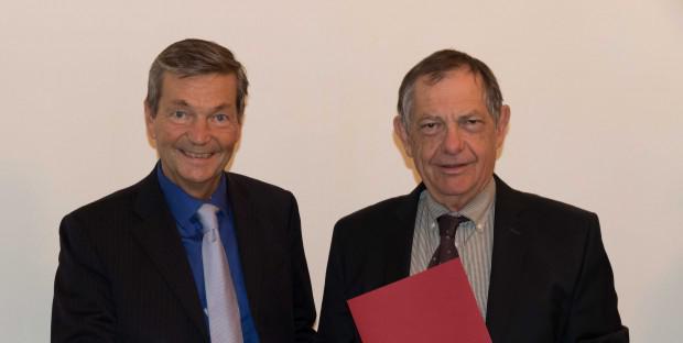 Professeur Bréchot et Dr Bernard Vallat