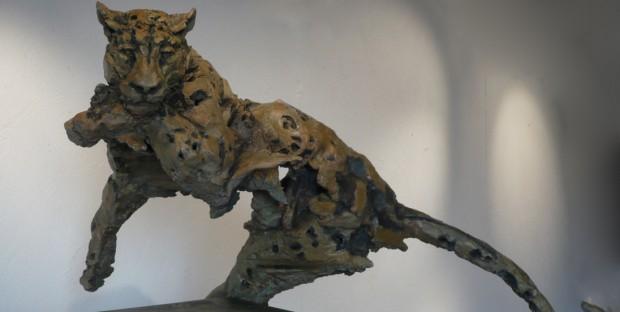 L'Arbre-Léopard, bronze de Jean-François Gambino