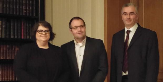 de gauche à droite ; Alexandra Mailles, Christophe Roy et Samuel Boucher