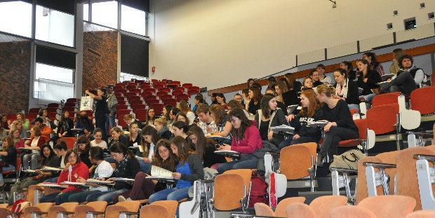 Les étudiants réunis lors du congrès inter avef junior à Oniris
