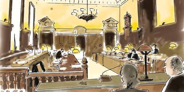 Cour de cassation en dessin