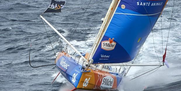 Vendée Globe Challenge 2016 2017,  Jean Pierre Dick Skipper de StMichel-Virbac  dans les vents du sud