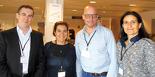 De gauche à droite : Jean-Philippe Liot, Isabelle Lussot, Christian Struchen, respectivement vice-président, secrétaire et président de l'European Veterinary Society for Osteopathy (EVSO), et Agnès Benamou-Smith, maître de conférences en médecine équine à VetAgro Sup.