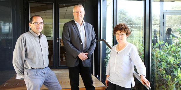 Jean-Michel Cappelier, enseignant en charge du dossier « biosécurité », Marc Gogny, directeur général adjoint, et Dominique Buzoni-Gatel, directrice générale, ont orchestré la réorganisation d'Oniris en vue d'obtenir son accréditation européenne.