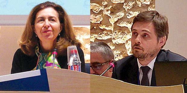 Monique Eloit (directrice de l'Organisation mondiale de la santé animale (OIE)) et Olivier Debaere