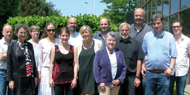 Le bureau de l'AFVE et les conférenciers de la journée du 6 juin.