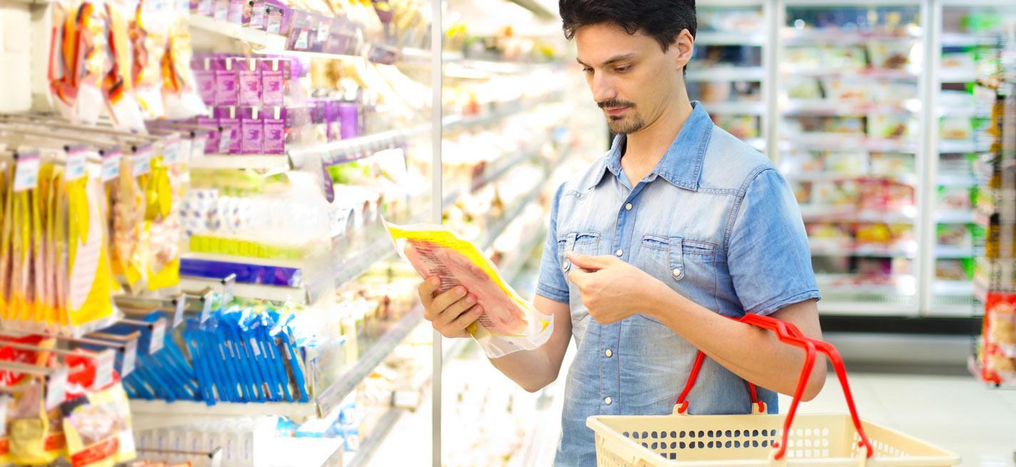 Un consommateur de produits alimentaires