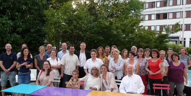 Le groupe des confrères et des partenaires ayant participé à la soirée organisée par l'APV le 15 juin dernier.