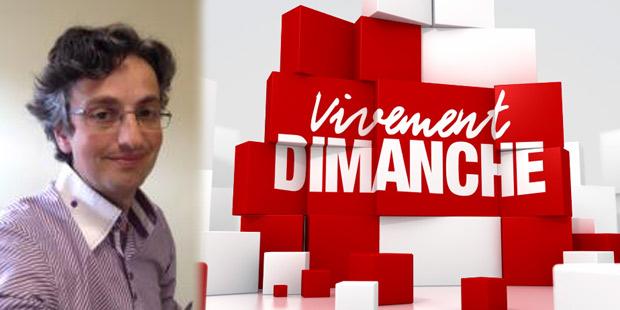 Renaud Tissier et le logo de Vivement Dimanche