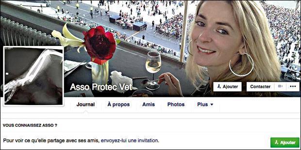 Page d'accueil facebook Asso Protec Vet