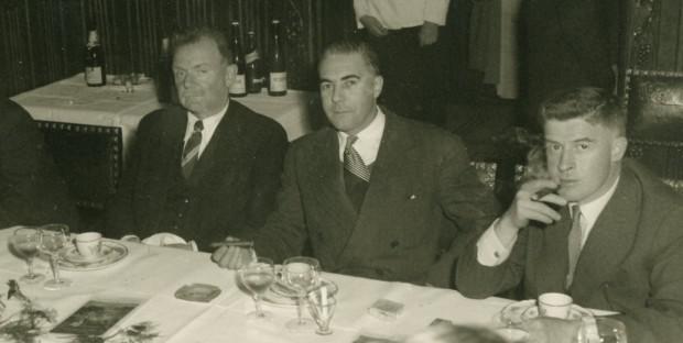 Journées vétérinaires de 1957 avec 3 enseignants : Letard, Goret et Drieux