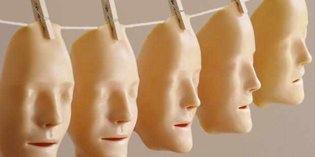 masques sur un fil