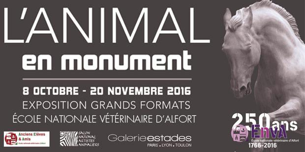 Affiche de l'exposition Animal et Monument