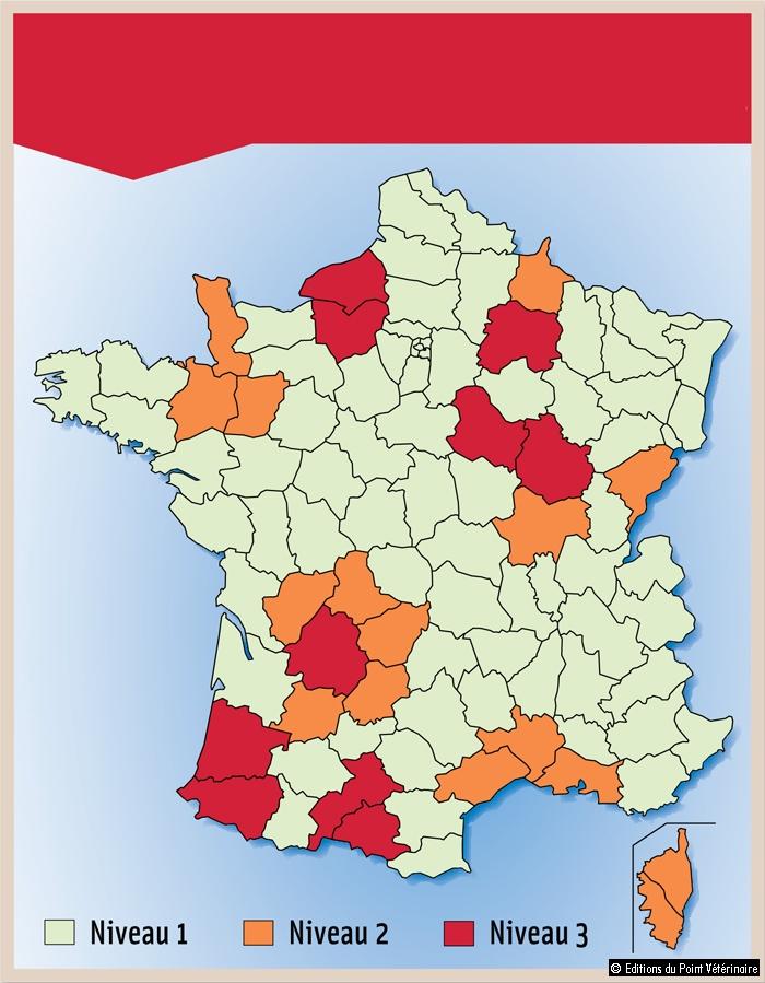 NIVEAUX DE SURVEILLANCE DE LA FAUNE SAUVAGE PAR DÉPARTEMENTS POUR 2013-2014
