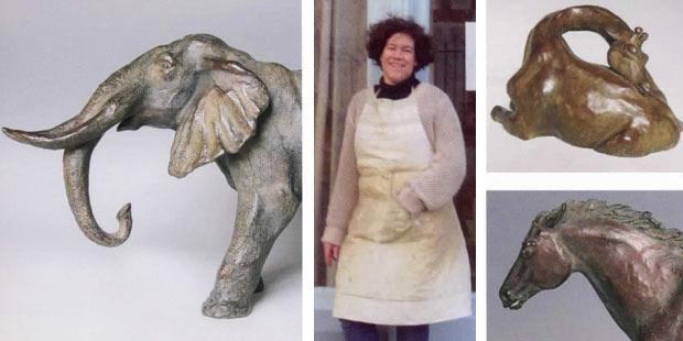 Exposition de sculptures animalières de Sophie Martin