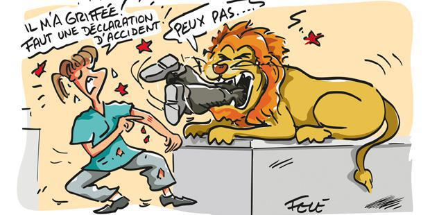 accident du travail en dessin