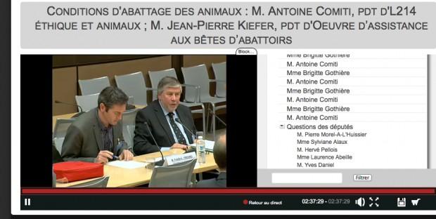 Frédéric Freund et Jean-Pierre Kieffer à la commission parlementaire