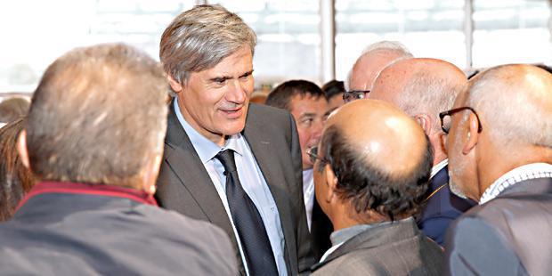 Le ministre de l'agriculture, Stéphane Le Foll, invité d'honneur au Sommet de l'élevage