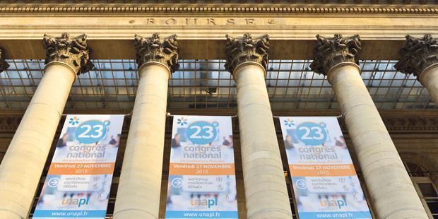 Le 23e congrès de l'Union nationale des professions libérales (Unapl) au palais Brongniart