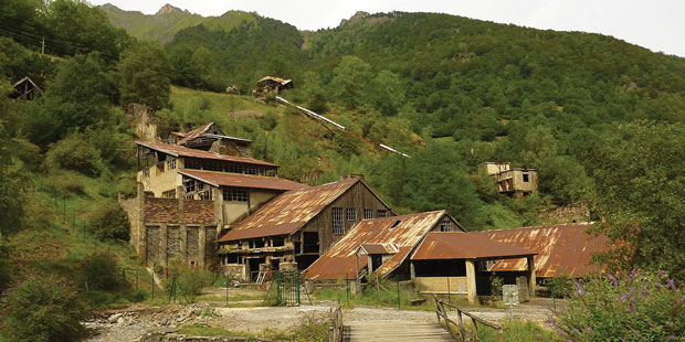Site minier du Bocard d'Eylie, sur la commune de Sentein, en Ariège.