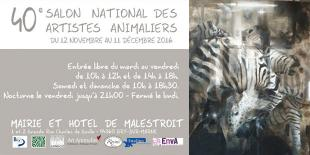 Affiche du 40ème salon national des arts animaliers