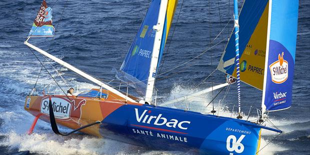 J.P. Dick sur son voilier StMichel-Virbac