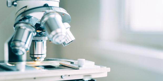 Microscope en laboratoire