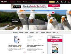 Capture du site LePointVeterinaire.fr